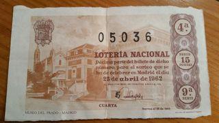 Décimo de lotería.