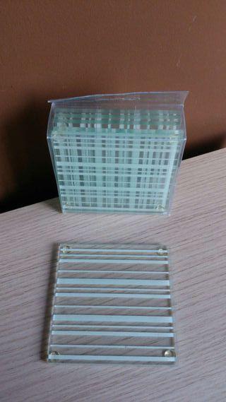 6 Posa-vaso de cristal NUEVO