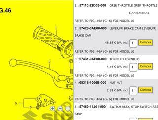 Maneta Freno Delantero Suzuki Gs 500