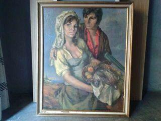 Vendo cuadro antiguo pintado a mano.