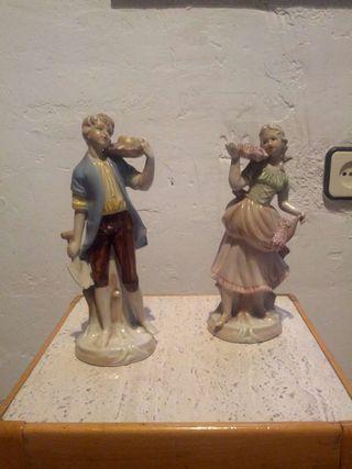 Figuras cerámica vintage campesinos