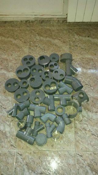 Lote piezas PVC