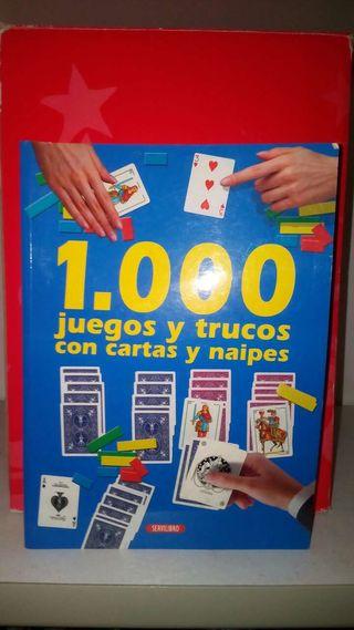 Libro 1000 juegos y trucos naipes.