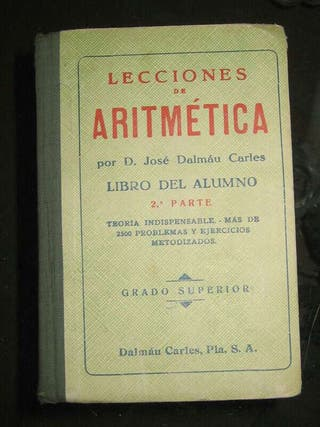 Lecciones de aritmética (D. José Dalmau)