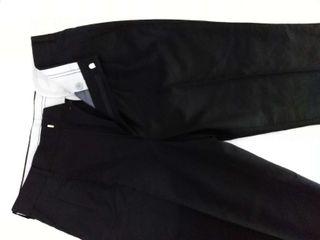Pantalón NEGRO de LANA FINA, cintura 41 (82CM)