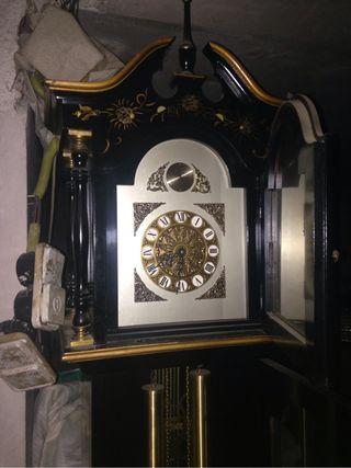 Super Carrillon Sonido Orriginal Pendulo Y Pesas De Laton Maquinaria Inglesa Una Jolla De Reloj Unico Terminacion A Mano De Dibujos Japon De