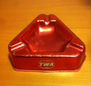Cenicero vintage compañia aerea TWA