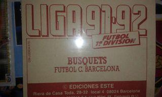 Cromos Liga 1991/92