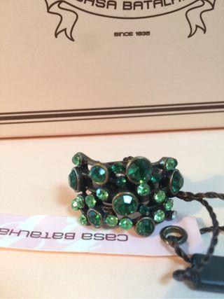 Anillo Cristales Verdes