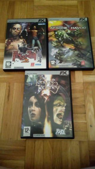Lote 3 juegos para PC
