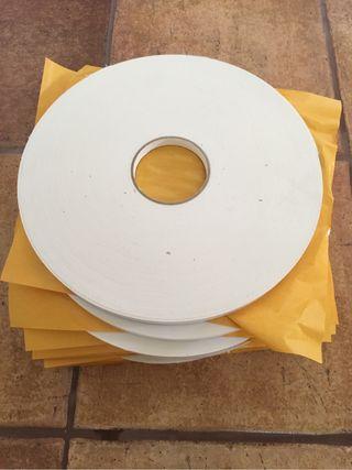10 Rollos de cinta adhesiva doble cara