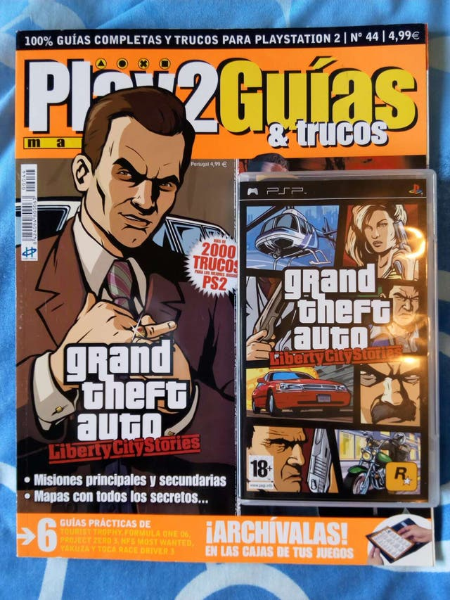 Grand Theft Auto Gta Liberty City Stories Para Psp Mas Revista Con