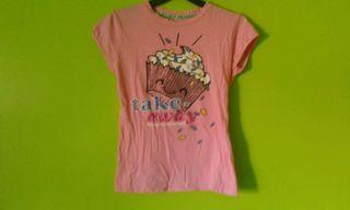 Camiseta Cupcake Muffin rosa XS/S
