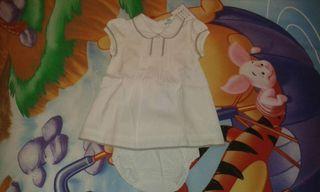 Vestido blanco sin estrenar, talla 12 meses