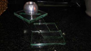 Portavela cristal