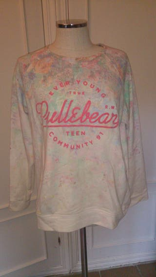 Sudadera Pull&Bear de varios colores Talla L terciopelo