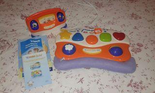Consola nueva y dos juegos para niños Vtech V.Emi
