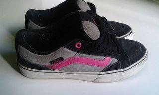 VANS skater chica rosas y grises 36