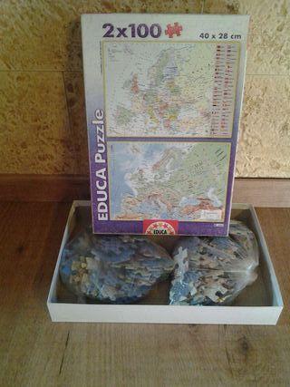 Puzzle de geografia de Europa