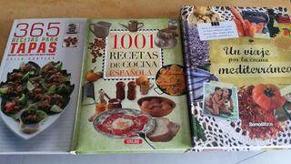Libros de cocina. Recetas para tapas. Cocina Española y mediterránea