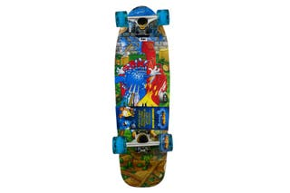 Skateboard FlameBoy Y Wet Willy Patinete