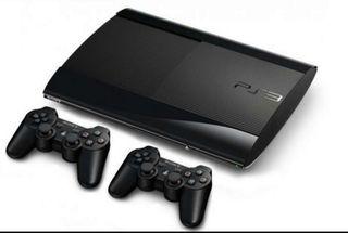 Play Station 3 super slim 500gB negro dos mandos
