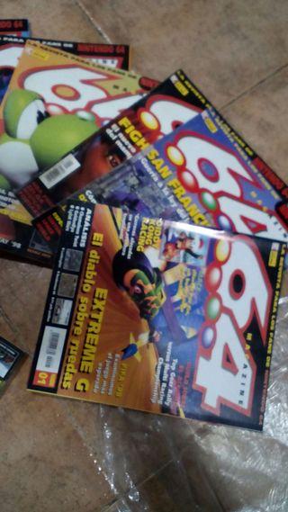Revistas nintendo 64 de los años 90