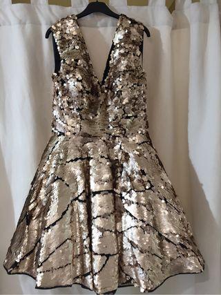 Vestido Pallet Oro
