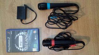 Microfonos PS3 + Juego Mecano