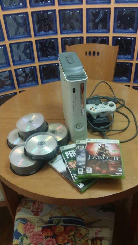 Xbox360, 60gb con juegos