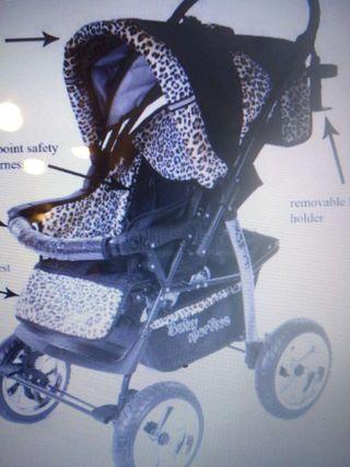 Carrito con capazo y silla de paseo