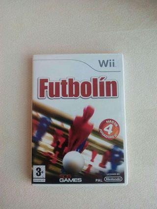 Juego multijugador Futbolín Wii