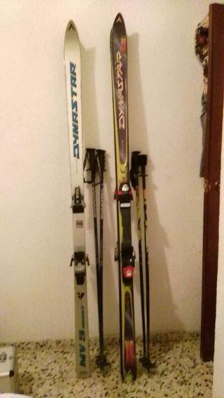 Esquís con botas 46-47