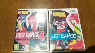 Just dance 3 y just dance 4 para wii