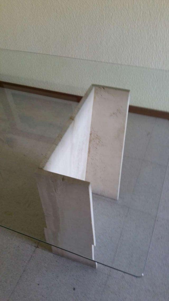Mesa de cristal y marmol de segunda mano por 150 en - Mesas de marmol y cristal ...