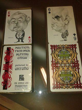 Cartas de poker de colección.