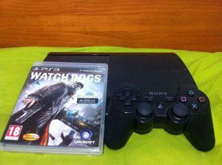 Play 3 de 500Gb con mando y watch dogs