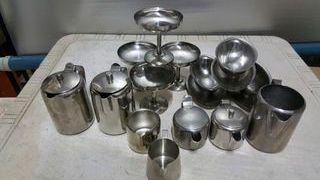 Copas y teteras y jaras de aluminio