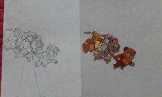 Star Wars Acetatos dibujos Ewoks