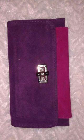 Bolso bicolor fucsia y lila