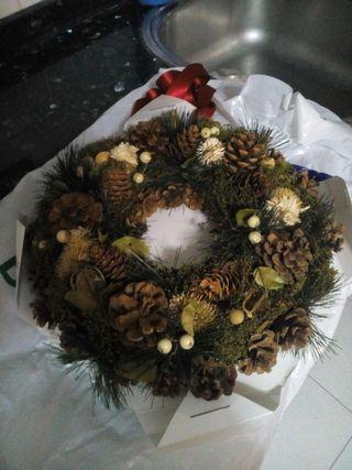 Corona de navidad para puerta o centro de mesa
