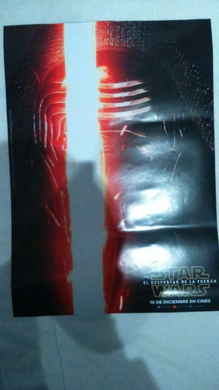 Poster Kylo Ren del preestreno Star Wars VII