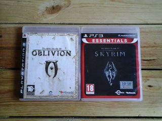 THE ELDER SCROLLS: SKYRIM & OBLIVION PARA PS3