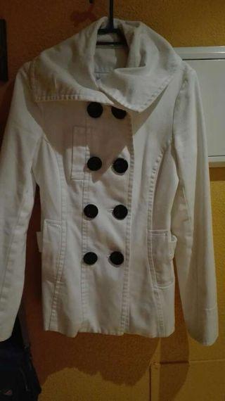 Chaqueta abrigo blanco