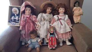 Muñecas de porcelana en muy buen estado.