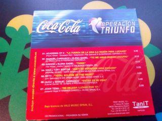 Cd Operacion Triunfo 2 Coca Cola