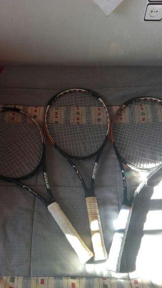 Vendo tres raquetas de tenis prince