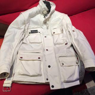 Chaqueta De Moto BELSTAFF Blanca, Mangas extraíbles, chaqueta Interior extraíble. NUEVA. Valor en tienda 890€