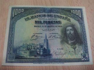 1000 pesetas de 1928