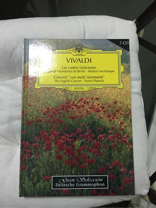 Libro con 2 CD De Las Cuatro Estaciones de Vivaldi
